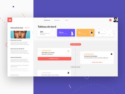 Dashboard illustration timeline dashboard me agency ux ui team