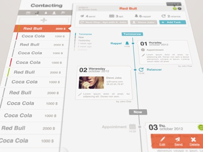 Timeline dashboard timeline agency process team appointment agenda calendar crm