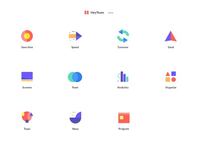Heyteam Icons branding vector logo design team illustrations icons ux ui