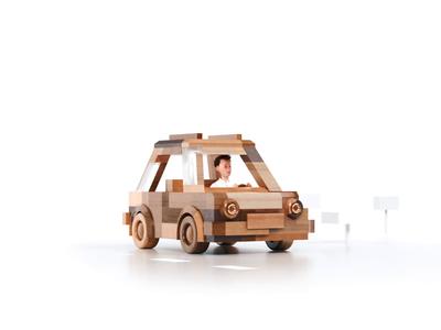 3d Animation - SendinBlue agency sendinblue concept tree character wood illustration animation motion c4d 3d