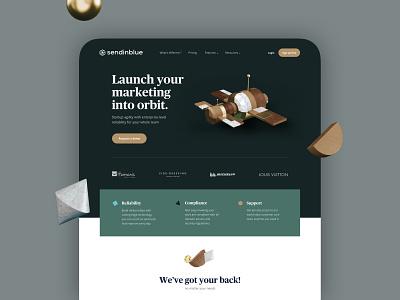 Sendinblue Enterprise Brand home brand identity c4d 3d landing brand guideline ux ui branding brand