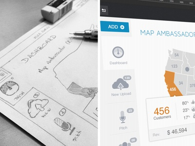Dashboard Admin dashboard admin sketches mockup upload icon pitch map usa travel agencyn me