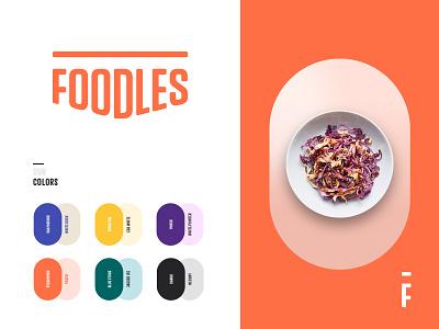 Branding - Foodles colors logos logotype logo branding and identity branding agency me ux ui