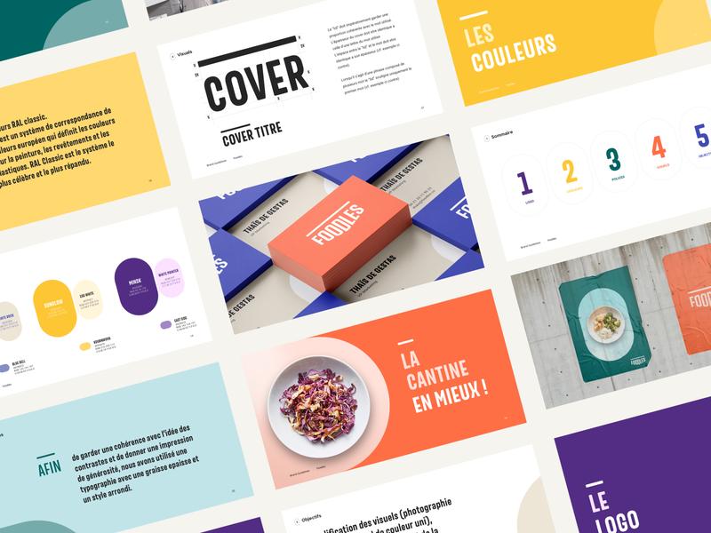Brandbook Foodles agency tech food colors guide brand identity brand
