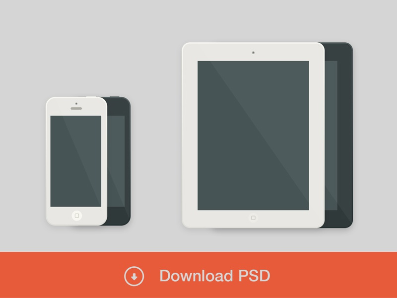 Iphone / Ipad - Freebies freebies free psd download ipad iphone flat white black shadow apple agency me