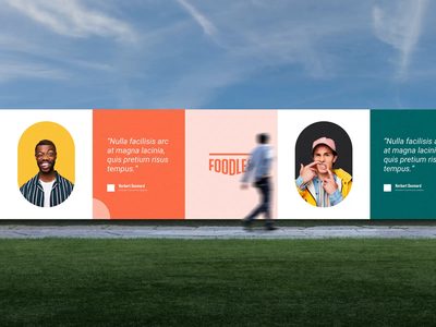 Foodles Branding picture identity brand identity billboard packaging branding brand food home agency