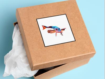 fish icon branding logo design photoshop illustration brush pen