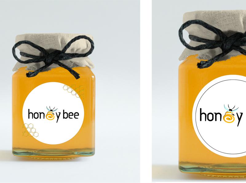 honey bee app typography icon art branding logo design photoshop illustration brush pen