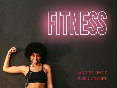 Landing Page design concept website design fitness gym landing web ux ui design