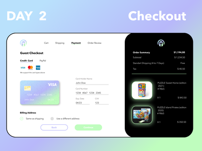 # Day 2 of my Daily UI Challenge. Checkout. paypal cms dashboard web ux checkout ui photoshop figma design