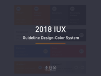 2018 IUX Guideline Design - Color System