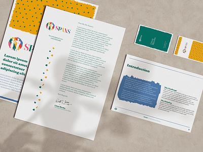 SPANS Brand Launch letterhead business card stationery templates mockup logo logodesign logo designer africa zimbabwe counselling mental health rainbow charity logo ngo branding ember family