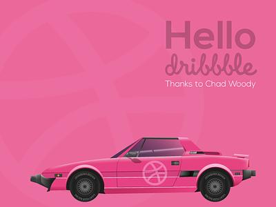 Hello Dribbble flat vehicle render illustrator design car x19 fiat debut