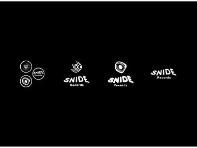 Snide Records - Concept Two music record label minimalist logo illustration design vector simple icon minimalistic minimalism logo branding