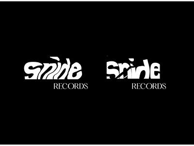 Snide Records - Concept Three music record label typography distorted minimalist logo design simple minimalistic icon minimalism logo branding