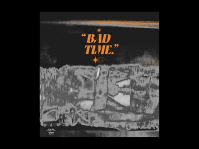 Bad Time. metallic grunge texture image making printmaking orange texture fine art print simple minimalism