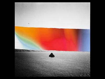Strand. monochrome monochromatic surreal art print design psychedelic photography poster art minimalism landscape design gradient