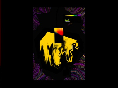 Bleed. distorted typography minimalistic illustration minimalism design trippy designs vivid simple poster print bright colors psychedelic gothic surreal art