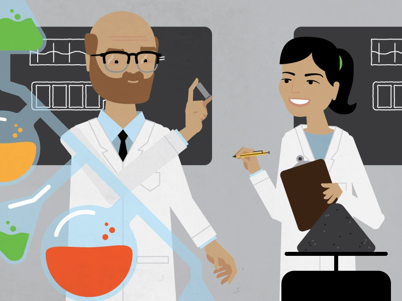 Science science aa scientists lab hands animation
