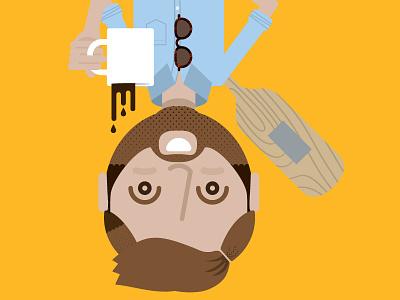 collaborator coffee paddle beard sunglasses
