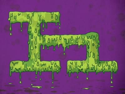 H h letterform typefight type spooky halloween