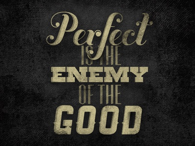 Perfect type gold texture quote