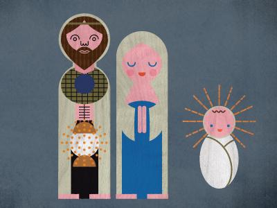 Nativity (character development) jesus mary joseph christ christmas girard nativity texture