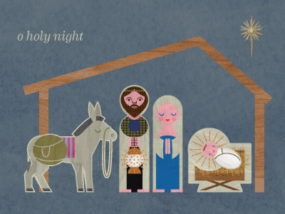 Nativity5 nativity illustration texture