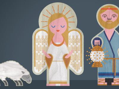 Nativity Angel nativity angel illustration texture
