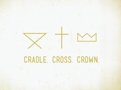 Cradle  Cross  Crown cradle cross crown illustration mono-weight jesus