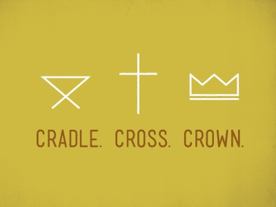 Cradle Cross Crown cradle cross crown jesus illustration mono-weight