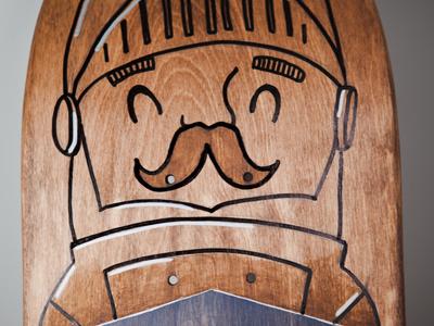 Art Effect Skate Deck skateboard deck knight illustration wood paint designweek stl