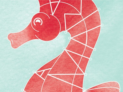 Seahorse seahorse texture type illustration