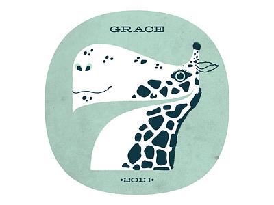 Number 7 for Grace pompadour illustration numbers 7 giraffe texture kids