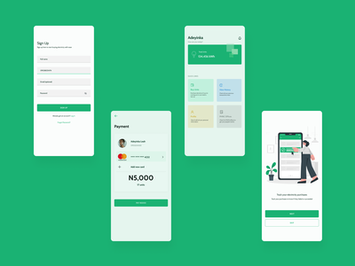 Electricity purchasing app design ui ux