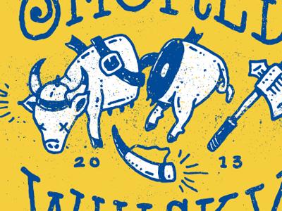 BBQ Fest Team Design (WIP) axe viking bbq bbq fest memphis in may international festival sweden hand drawn gore pig swine