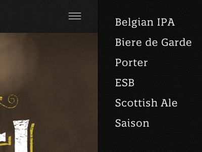 Site UI & Textures textures ui ux user interface user experience ui design beer navigation