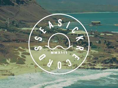 Seasick Records Logo logo seasick records seasick records record store brand identity