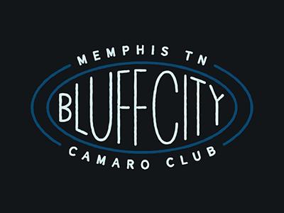 Bluff City Camaro Club Logo logo bluff city memphis tennessee camaro club camaro chevy identity brand