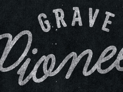Grave Pioneer logo custom typography band