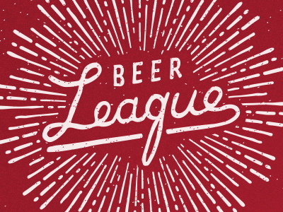 Beer League Logo beer beer league brew club beer club brew crew hand drawn hand drawn logo