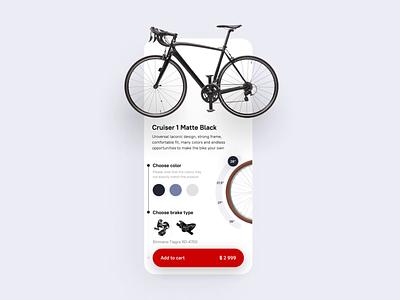 Bicycle shop mobile app product design mobile animation design animation selector design app app ui statistics diagram uxdesign shopping app shopping bicycle shop bicycle mobile app design