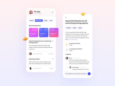 Mobile forum app forum chat app chat mobile app mobile uxdesign design app design app