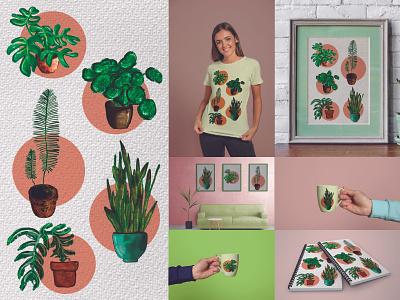 Plants mockups mockup plant drawing plant illustration plants illustrations plants huion graphic design illustration design