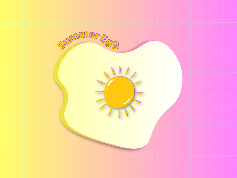 Summer Egg dribbbleweeklywarmup summertime summeregg summer illustration graphic design vector logo design