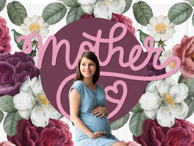 Mother mothers day flowers mother photo vector illustration graphic design design