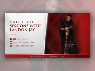 Landon Jay Facebook Ad photoshop banner design banner ad design banner ad facebook ads facebook ad musician music player