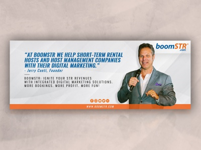 BoomSTR Facebook Cover digital marketing services rental management company digital marketing agency digital marketing social media design facebook banner facebook cover facebook photoshop banner design design