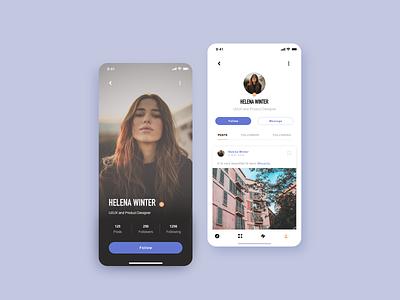 User profile profile view uidesign social profile user profile user interface design dailyuichallenge design app design ui adobe xd dailyui