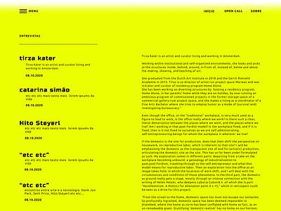 SUPERSONIC Interviews Page minimal ui design typogaphy uxdesign ux